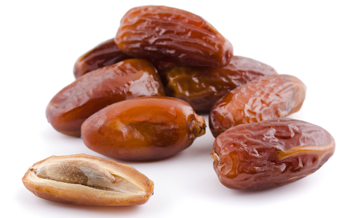 Dates Whole and Cut in Half