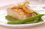 Fish: Broled cod with Lemon and Green Beans