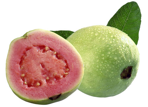 Guava Whole and Half With Leaves