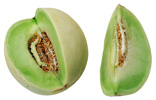 Honeydew Melon With Wedge Removed