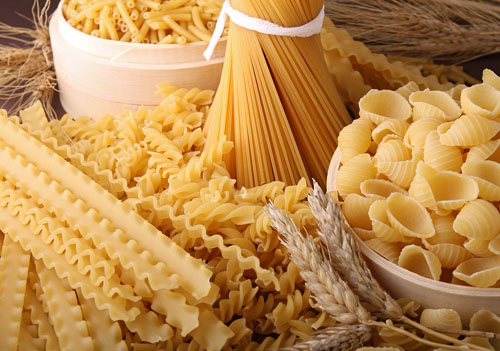 Several Different Types of Pasta