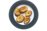 Fried Plantain Slices on a Plate