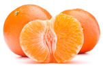 Tangerines Peeled and Unpeeled